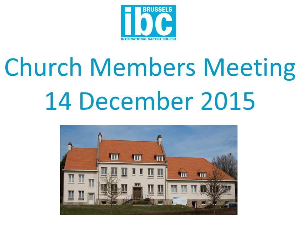 IBC Church Members Meeting