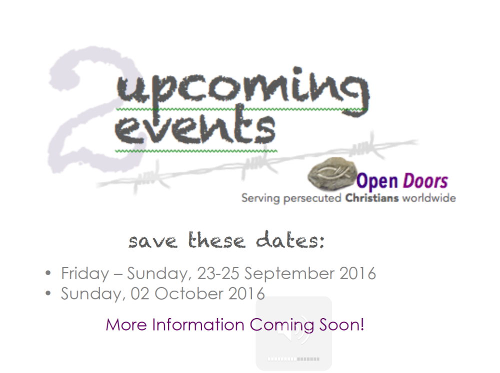 Open Doors 2 event website starter April 2016